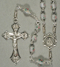 Image of 6-mm Czech Lampwork glass rosary
